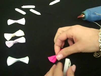 DIY Mini Bow Hair Clips  by New York Design Shop