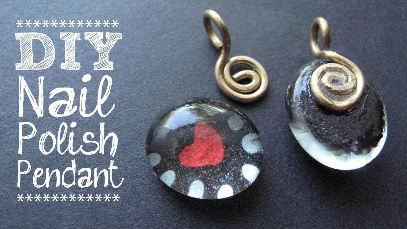 DIY Nail Polish Jewelry - Painted Heart Pendant Tutorial