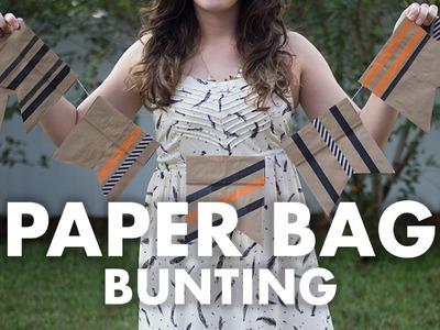 DIY Paper Bag Bunting