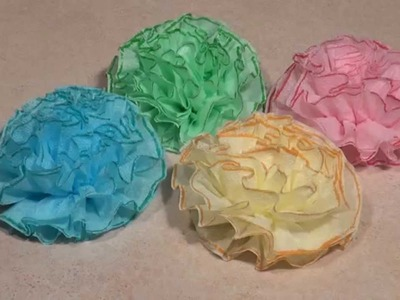 DIY Paper Flowers. Napkin Flowers
