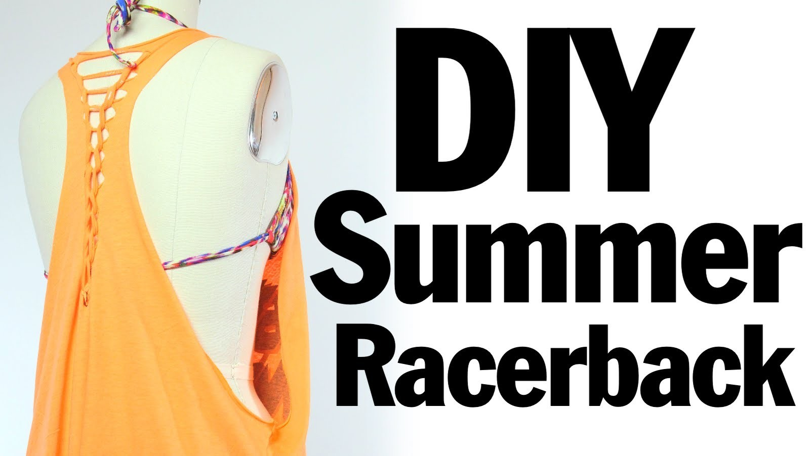 DIY Racerback Muscle T-shirt Recon, Summer Music Festival Fashion