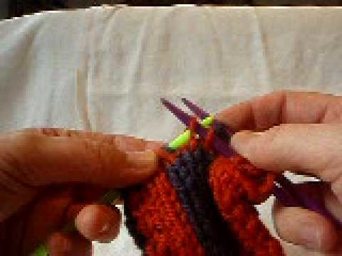 Double-knitting: fixing mistake and bind-off