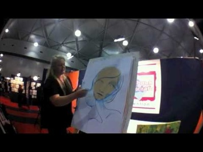 Drawing Faces from Your Imagination at Scrapbook expo