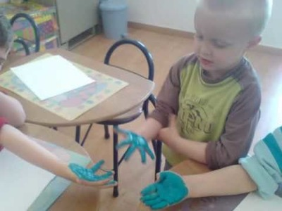 Easy Arts and Crafts For Children: The PALM PRINT