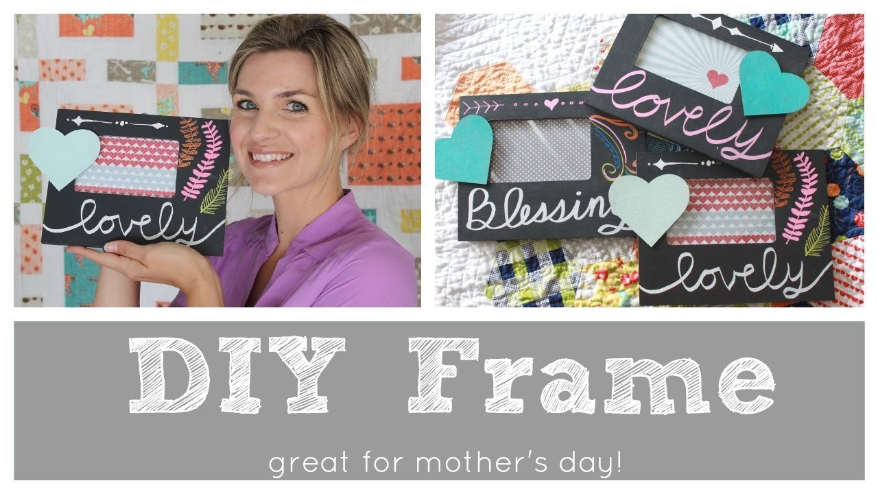Easy DIY Chalkboard Frame - great Mother's Day gift!