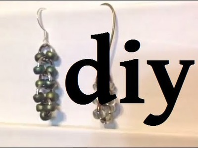 Easy Jump Ring and Seed Bead Earrings DIY December Day 12