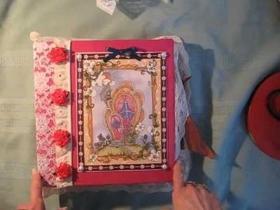 Fabric, Lace and Paper Scrapbook Mini Album