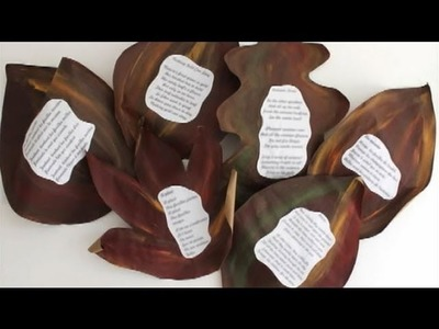 Fall crafts for school: Autumn Leaves