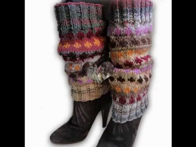 Hand Knitted Legwarmers from Paradis Terrestre