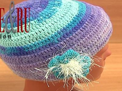 Hat to Crochet Easy Pattern Tutorial 2 Part 3 of 3 Stylische Häkelmütze