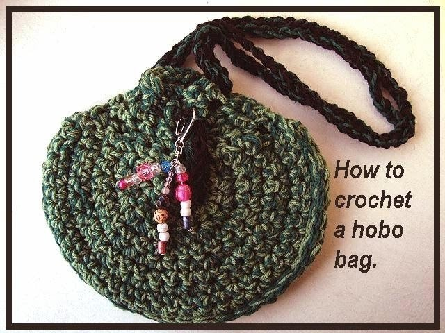 How to crochet a hobo bag purse