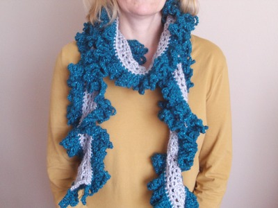How to Crochet a Ruffle Scarf
