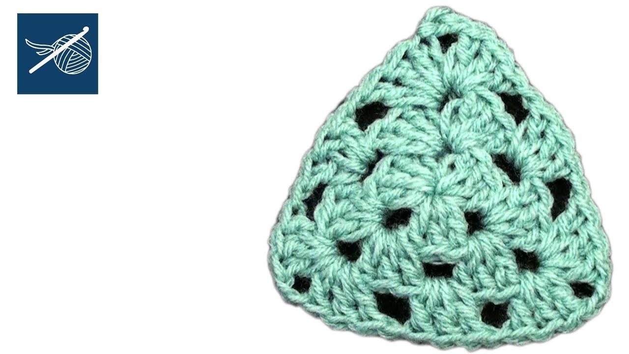 How to Crochet a Triangle Motif - Left Hand Crochet Geek