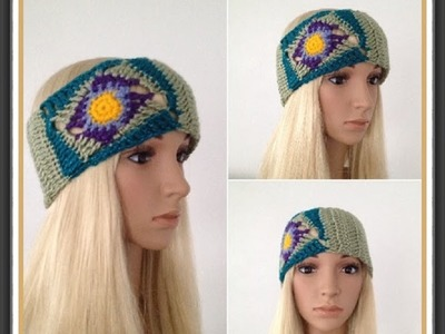 How to Crochet Earwarmers. Headband Pattern #17 │by ThePatterfamily