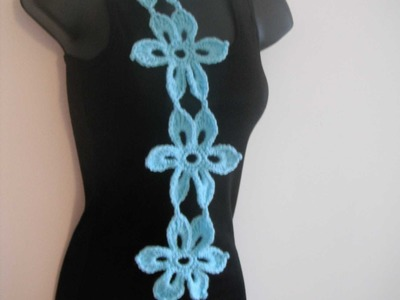 How to crochet mint scarf or belt free pattern tutorial cómo hacer