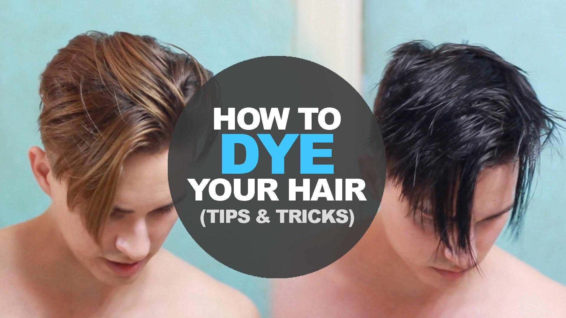 How to Dye Men's Hair at home | DIY | Men's Hairstyle tutorial
