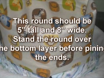 How To Make A diaper Cake Using Baby Blankets