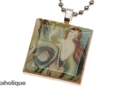 "How to Make a ""Scrabble"" Tile Pendant"