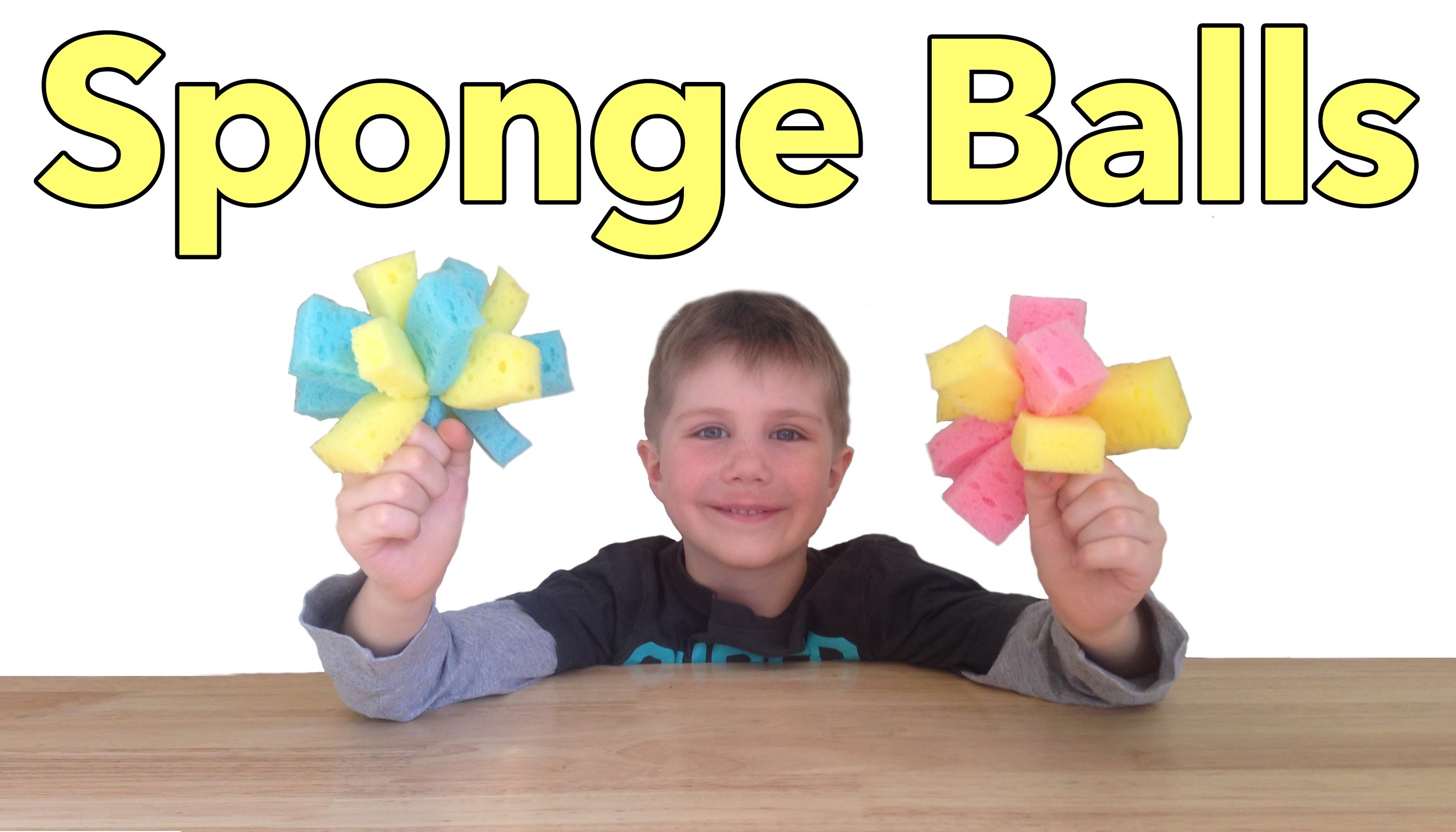 How to Make a Sponge Ball - Easy Craft For Kids