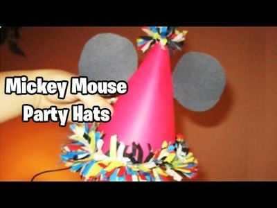 How to make Birthday hats Mickey Mouse Theme (EASY TUTORIAL)