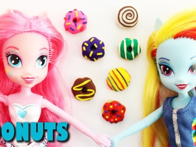 How to make Doll Donuts. Doughnuts Tutorial  - Easy Doll Crafts - SimpleKidsCrafts