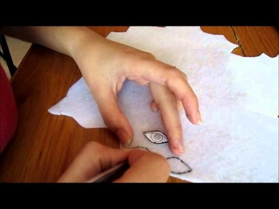 How to Make Faces on Knitted Dolls Part 02--Embroidering Eyes
