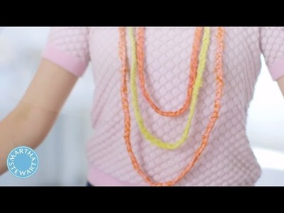 How to Make Lightweight Braided Silk Necklaces - DIY Style - Martha Stewart