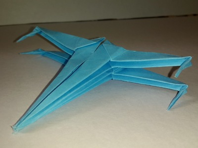 How To make Origami Star wars X-WING- Origami Tutorial