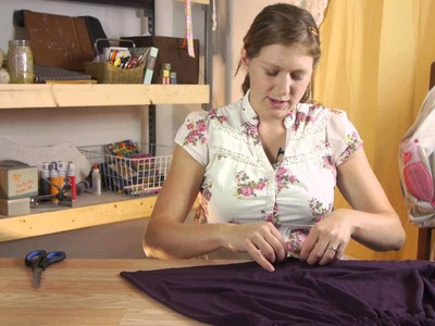How to Shorten the Length of a Shirt Without Sewing : Shirt Crafts