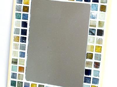 Make a Cute Mosaic Tile Mirror Frame - DIY Home - Guidecentral