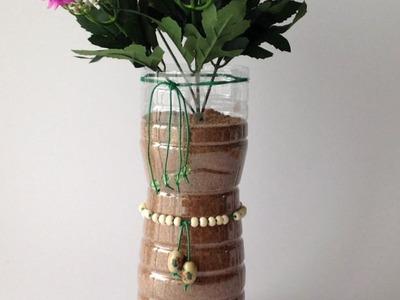 Make A Silk Flower Vase From A Plastic Bottle - DIY Home - Guidecentral