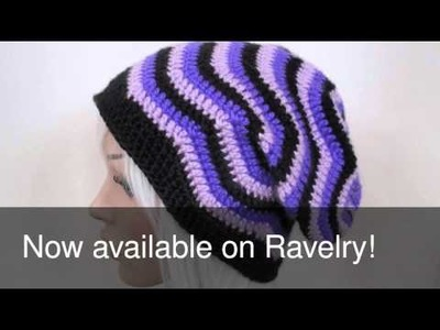 NOW AVAILABLE: Wavy Zig-Zag Crochet Hat Pattern