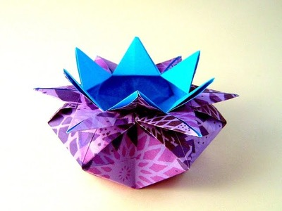 Origami Easy box – 10 Points Star Vase - Star candy box Easter basket