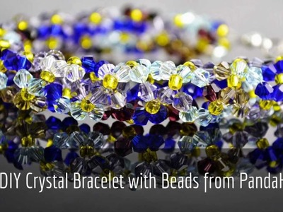 Pandahall DIY Crystal Bracelet with beads Tutorial