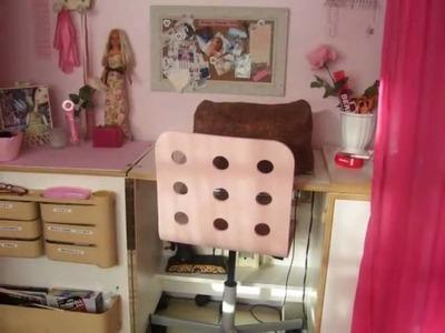Pink Shabby Scrapbook Craft Quilt Room Tour