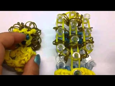 Rainbow loom, Lion Charm rainbow loom weaving method produced the lion's detailed tutorial Guowen Co