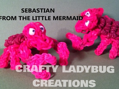 Rainbow Loom SEBASTIAN CRAB.LOBSTER-LITTLE MERMAID Advanced Charm Tutorial by Crafty Ladybug