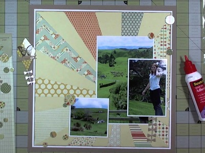 "Scrapbook Layout: 6""x6"" Paper on a 12""x12"" Layout"