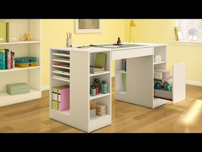 South Shore Crea Collection Craft Table Perfect For Creative Hobbies - Sewing, Scrapbooking & More