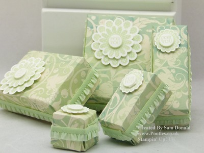 Stampin' Up! UK 5 Boxes from 1 Sheet of Designer Series Paper!