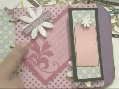 Very first Scrapbook mini album made from envelopes