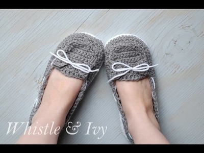Women's Boat Slippers Straps and Toe Flap Tutorial