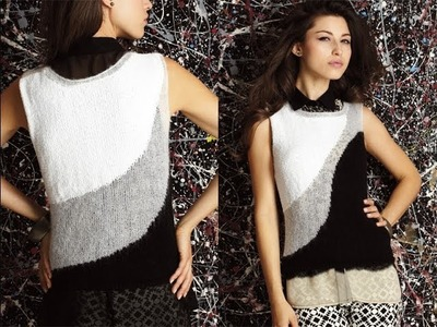 #10 Sheer Panel Top, Vogue Knitting Spring.Summer 2013