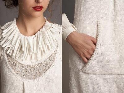 #2 Scoop Neck Dress, Vogue Knitting Spring.Summer 2011