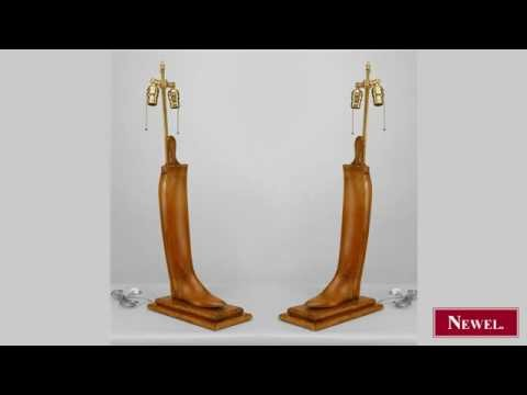 Antique Pair of English Victorian pine boot stretchers