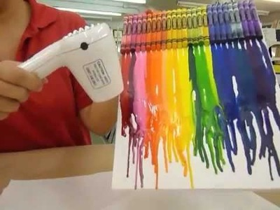 Crankin' Out Crafts -ep65 Crayon Drip Art