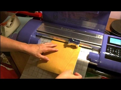 Cutting Contact Paper (Vinyl) with Debi