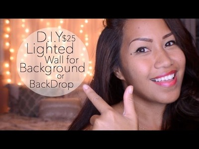 DIY $25 Lighted Wall {Background.BackDrop}
