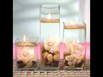 DIY Candle wedding centerpieces decoratig ideas