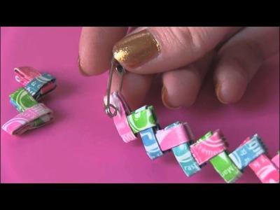 DIY: Candy Wrapper Link Jewelry. [[Starburst Bracelet]]